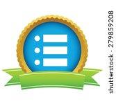 gold ordinal list logo on a...