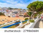 promenade along street in...   Shutterstock . vector #279860684
