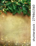 christmas fir tree border over... | Shutterstock . vector #279861560