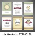 set of brochures in vintage... | Shutterstock .eps vector #279868178