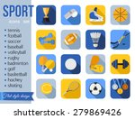Set Of Sport Icons. Flat Style...