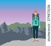 exploring mountains. vacation...   Shutterstock . vector #279873236