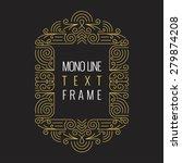 vector mono line style... | Shutterstock .eps vector #279874208