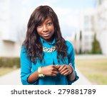 cool black woman standing | Shutterstock . vector #279881789