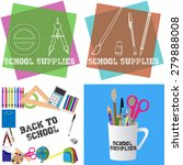 set of backgrounds and labels... | Shutterstock .eps vector #279888008