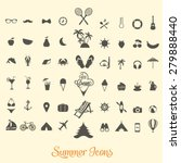 summer icon vectors | Shutterstock .eps vector #279888440