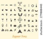 summer icon vectors | Shutterstock .eps vector #279888440