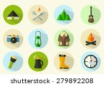 summer camping icon set | Shutterstock .eps vector #279892208
