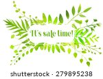 spring banner with watercolor...   Shutterstock . vector #279895238