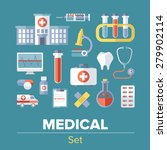 flat medical icons | Shutterstock .eps vector #279902114