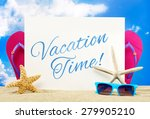 vacation time banner | Shutterstock . vector #279905210