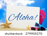 aloha banner | Shutterstock . vector #279905270