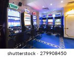 interior of a casino with slot... | Shutterstock . vector #279908450
