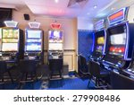 interior of a casino with slot... | Shutterstock . vector #279908486