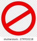 not allowed sign | Shutterstock .eps vector #279910118