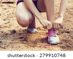 running shoes   closeup of... | Shutterstock . vector #279910748