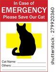 cat  pet emergency alert... | Shutterstock .eps vector #279920360