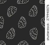 brain doodle seamless pattern...   Shutterstock . vector #279940076