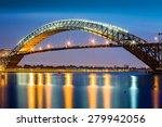 bayonne bridge at dusk. the... | Shutterstock . vector #279942056