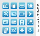 airport icons   Shutterstock .eps vector #279942530