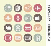 airport icons for web | Shutterstock .eps vector #279942563