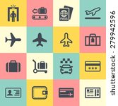 airport vector icon set | Shutterstock .eps vector #279942596