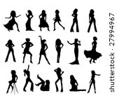woman silhouettes | Shutterstock . vector #27994967