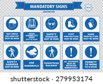 mandatory signs  construction... | Shutterstock .eps vector #279953174