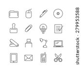 office icons | Shutterstock .eps vector #279953588