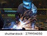 worker with protective mask... | Shutterstock . vector #279954050