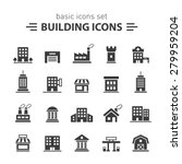 building icons set. | Shutterstock .eps vector #279959204