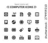 computer icons set. | Shutterstock .eps vector #279959210