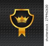 illustration heraldic shield on ... | Shutterstock . vector #279962630