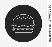 hamburger line icon | Shutterstock .eps vector #279971180