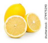 lemons isolated on white... | Shutterstock . vector #279975290
