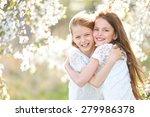 Portrait Of Two Little Girls...