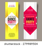 set of two vertical music party ...
