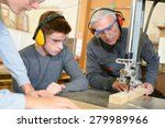 woodwork apprenticeship | Shutterstock . vector #279989966