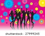vector illustration of a group... | Shutterstock .eps vector #27999245