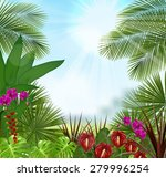beautiful in the morning with a ... | Shutterstock . vector #279996254