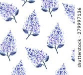 watercolor lilac pattern | Shutterstock . vector #279997136