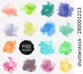 vector watercolor background.... | Shutterstock .eps vector #280001213