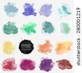 vector watercolor background.... | Shutterstock .eps vector #280001219