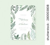 elegant wedding card design... | Shutterstock .eps vector #280003808