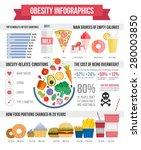 obesity infographic template  ... | Shutterstock .eps vector #280003850