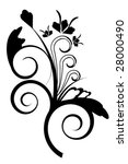 abstract vector floral... | Shutterstock .eps vector #28000490