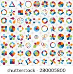 collection of infographic... | Shutterstock .eps vector #280005800