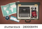 reporter and writer vintage...   Shutterstock .eps vector #280008494