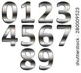vector illustration iron digit...   Shutterstock .eps vector #280009523