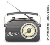 radio retro portable receiver... | Shutterstock . vector #280015088